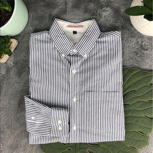 Apolis Global Citizen Grey & White Strip Shirt
